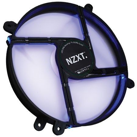 Cooler 200x200mm NZXT - Silencioso - com LED Azul