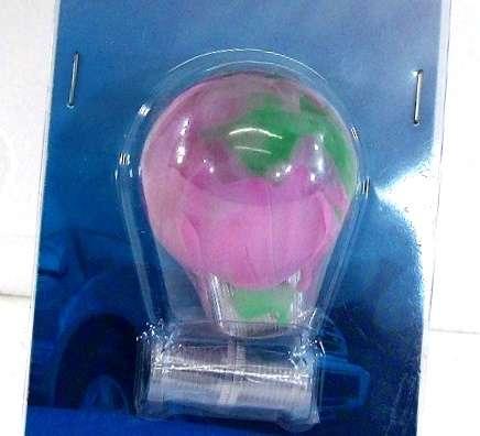 Green/Pink clear shift knob 60mm M12x1.25,M10x1.5/1.25,M8x1.25
