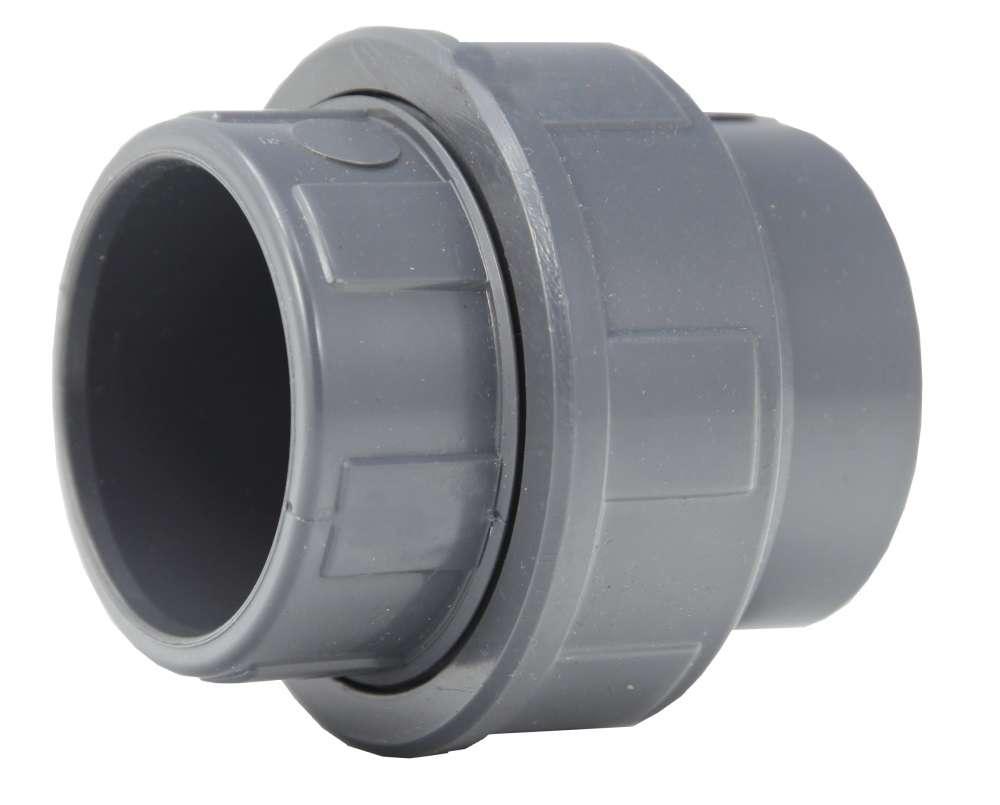 Union pvc 40 ff coller pression raccord piscine for Pvc pression piscine