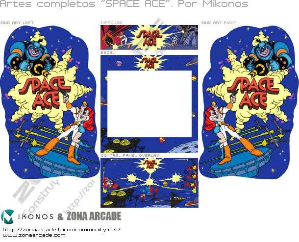 "Artes completos para decorar la máquina recreativa arcade ""Space Ace Dream Custom"""