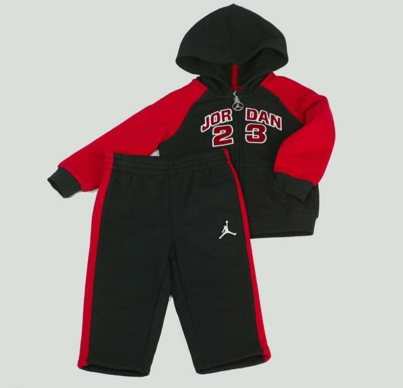 Nike Jordan 23 Infant Baby Boys Hoodie Hooded Jacket Pants Outfit Set Black Red | eBay