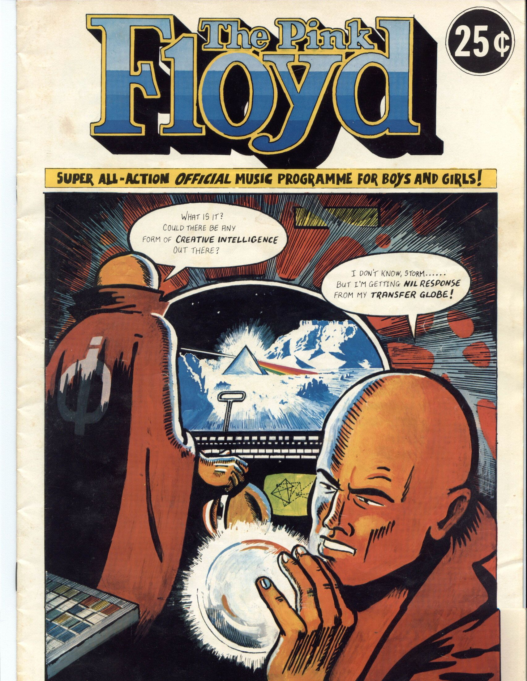 pinkfloyd1975tourcomicb Pink Floyd   Dark Side of the Moon Tour Comic Book (1975)